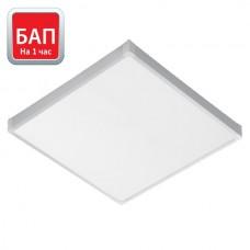 Светодиод. св-к Hightech-38/opal-sand 595х595 (IP40, 4000К/5000К, белый) с БАП на 1 час.