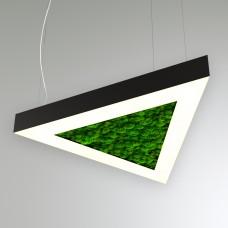 RVE-LBX-MOSS-TRIO-900-P (треугл. с отв. со мхом 900x779x100мм S80мм 60Вт белый) светильник