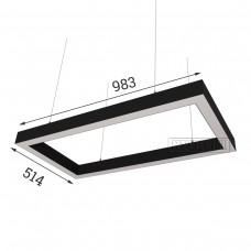 RVE-PLS5070-CUADRO-983-P (прямоуг. 983x514мм 50x70мм 72Вт) светильник
