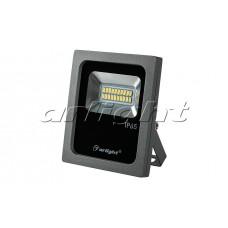Светодиодный прожектор AR-FLG-FLAT-10W-220V (10Вт,130x110x35мм,3000K/4000К/6000К,Серый).