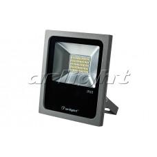 Светодиодный прожектор AR-FLG-FLAT-30W-220V (30Вт,205x180x46мм,3000К/4000К/6000К,Серый).