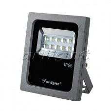 Светодиодный прожектор AR-FLAT-ARCHITECT-10W-220V 50x70 deg  (10Вт,130x110x35мм,3000К/4000К/6000К,Серый).