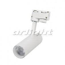 Светодиодный трековый светильник LGD-GERA-2TR-R55-10W 24 deg WH (10Вт,d55x145x145мм,3000К/4000К/6000К,Белый).
