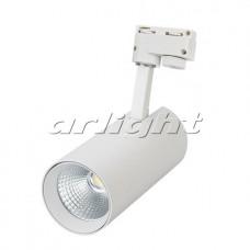 Светодиодный трековый светильник LGD-GERA-2TR-R90-30W 24 deg WH (30Вт,d90x185x200мм,3000К/4000К/6000К,Белый).