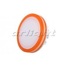 Светодиодная панель LTD-95SOL-R-10W (10Вт,d95x40мм,3000К/4000К,оранжевый).
